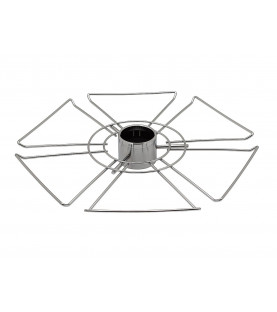 Полка для бокалов круглая центральная стальная Тип-1