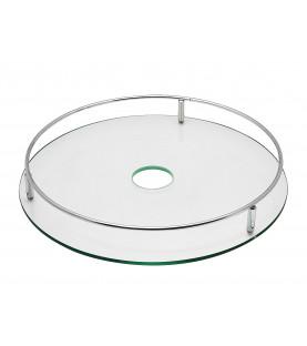 Полка круглая центральная стеклянная Тип-1