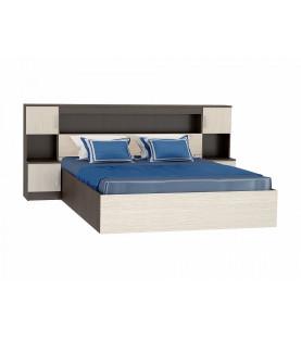 Кровать Бася КР-552 с закроватным модулем 1,6м