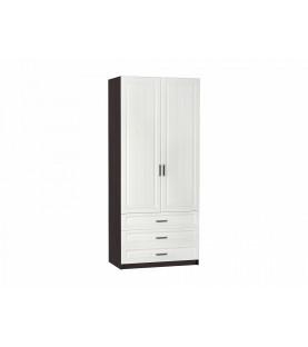 Шкаф 2-х створчатый бельевой Прага ШК-905 с 3-мя ящиками