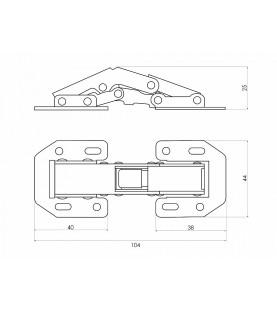 Петля поршневая быстрого монтажа (угол откр. 180°)