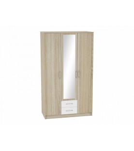 Шкаф 3-х створчатый Сопрано ШК-223 с зеркалом и 2-мя ящиками