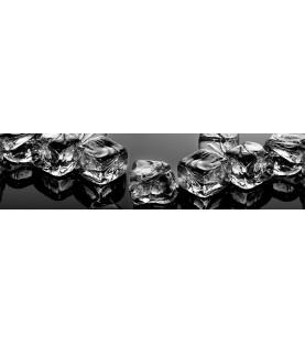 Фартук для кухни «Черный лед»